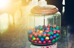 Old toy, Colorful of eggs. royalty free stock images