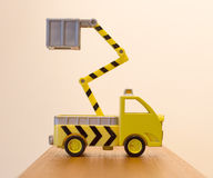 Old toy emergency truck  Royalty Free Stock Images