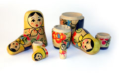 Old toy, a nested doll. Nested doll - an ancient Russian toy for children Royalty Free Stock Image