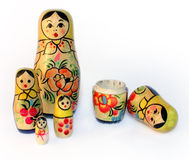 Old toy, a nested doll. Nested doll - an ancient Russian toy for children Stock Photography
