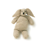 Old toy rabbit knitted isolated Stock Photos