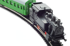 Old toy railroad train Stock Images
