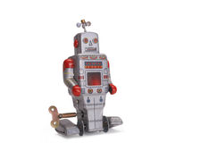 Old toy robot Stock Photography
