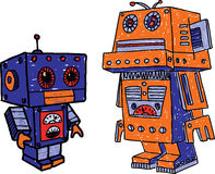 Old toy robots Stock Images