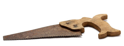 Old toy saw Royalty Free Stock Image
