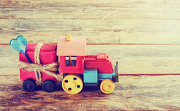 Old toy steam engine Stock Photography