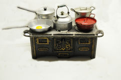 Old toy stove Stock Photo