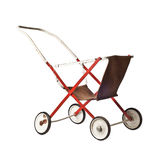 Old toy stroller Stock Images