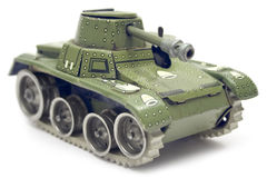 Old Toy Tank Stock Photo