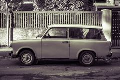 Old Trabant car royalty free stock photography