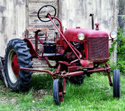 Old Tractor. On a farm Royalty Free Stock Photo