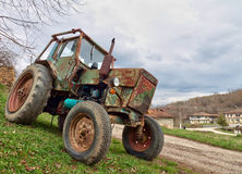 Old tractor. In Elena, Bulgaria, which is still used for work Royalty Free Stock Image