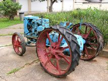 Old tractor. Old abandoned Brazilian traction engine stock image