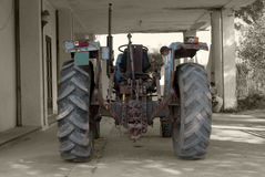 Old tractor for agriculture Stock Images