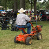 An old tractor as seen at an annual summer event in paducah royalty free stock photo