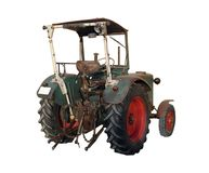 Old tractor from behind Royalty Free Stock Images