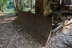 Old tractor is broken Stock Image