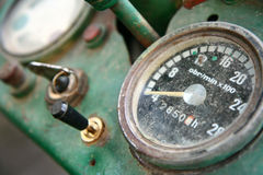 Old tractor dashboard Royalty Free Stock Photos