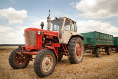 Old tractor in field Stock Image