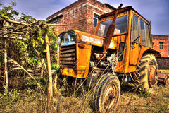Old tractor in HDR effect Royalty Free Stock Image
