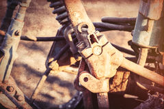 Old tractor mechanisms. Royalty Free Stock Photography