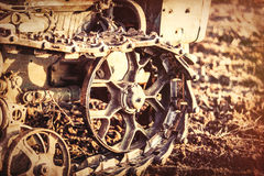 Old tractor mechanisms. Stock Photography