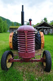 Old tractor in Norway landscape Stock Image