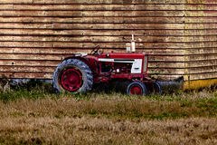 Old Tractor Parked Royalty Free Stock Image