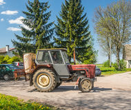Old tractor with pesticide sprayer Royalty Free Stock Photo