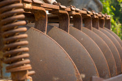 Old tractor plough. Royalty Free Stock Photos
