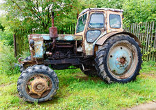 Old tractor in rural Stock Photography