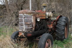 Old Tractor. Old, rusty used farm tractor Stock Photo