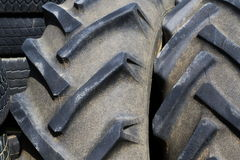 Old tractor tires background Stock Images