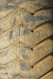 Old Tractor Tires. In the refuse area of a industrial tire shop in Roseburg Oregon Royalty Free Stock Images