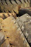 Old Tractor Tires. In the refuse area of a industrial tire shop in Roseburg Oregon Stock Image