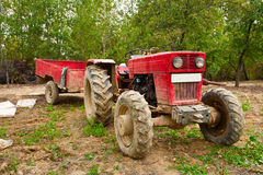 Old tractor with trailer Royalty Free Stock Photography