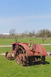 Old Tractor in a Vineyard Royalty Free Stock Photos