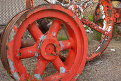 Old tractor wheels Stock Image