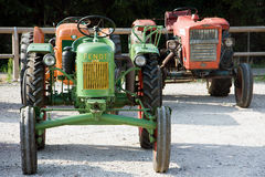 Old tractors. In July in Caprino Veronese (Italy) took an important gathering of old tractors, built between 1930 and 1960 still operating perfectly. These Royalty Free Stock Images