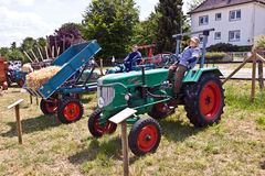 Old tractors at the Hessentag Stock Photo