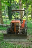 The old tractors, parked at the old forest. royalty free stock photos