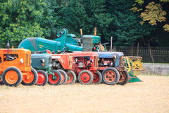 Old tractors in perspective Royalty Free Stock Image