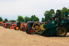 Old tractors in perspective Stock Photography