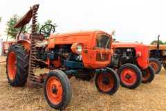 Old tractors in perspective Royalty Free Stock Photo