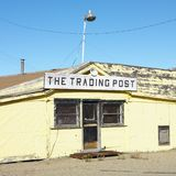 Old trading post in desert Stock Photos