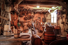 Old tradition workshop.JPG. Old tradition workshop in France.JPG royalty free stock photography
