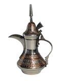 Old traditional Arabian metallic coffee-pot Stock Photo
