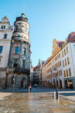 Old traditional architecture and street in Dresden, Germany Stock Image