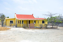 Old traditional arubean house on Aruba island. In the Caribbean Stock Photo