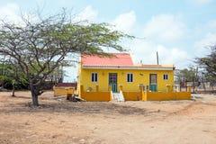 Old traditional arubean house on Aruba island Stock Photo